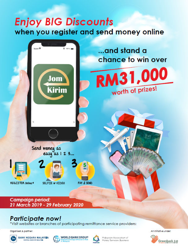 JomKirim Winners Campaign 22 March 2019 to 29 February 2020